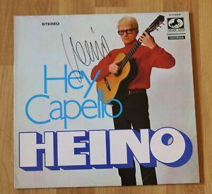 """ORIGINAL Autogramm von Heino auf VINYL 12"""". """"HEY CAPELLO""""."""