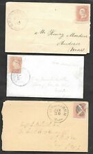 United States / USA - 3 x 1860s postal history covers. See scans for details.