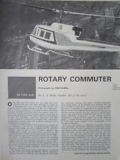 ARTICLE 5 PAGES CUTAWAY ECORCHE HELICOPTERE BELL 212 HELICOPTER HUBSCHRAUBER