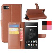 De lujo Abatible Cuero PU De pie Cubierta Estuche tipo Billetera con Ranuras para tarjetas para BlackBerry Motion