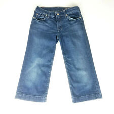 7 For All Mankind Dojo Womens 28 (30x20) Wide Leg Capri Jeans Dark Wash Crop