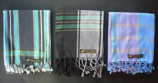 Kikoy Kikoi African Ladies Mens Long Narrow Scarf Kenya Blue Black Green Gift