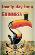 Guinness Toucan With A Pint Embossed 3D Metal Pub Bar Irish Licensed Sign Plaque