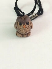 WOOD BADGE OWL STRING ALONG NECKLACE/TOTEM WOODBADGE