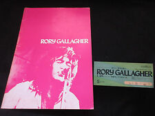 Rory Gallagher 1974 Japan Tour Book with Ticket Stub Taste Concert Program