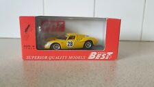 BEST MODELS  - FERRARI 250LM - 1966 PARAGI 1000KM - 1/43 SCALE MODEL CAR - 9166