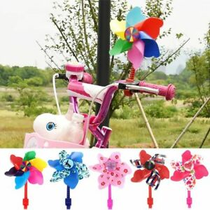 Bike Handlebar Flower Pinwheel Windmill Decorations For Kid's Bicycle Scooter