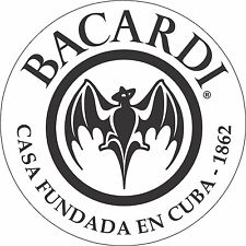 Bacardi Cuba Rum Alcohol Sticker - decal wall, window, vinyl sticker 5""