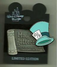 WDW LE ALICE IN WONDERLAND 1951 MAD HATTER HAT PEWTER SCROLL SERIES DISNEY PIN