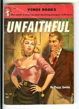 UNFAITHFUL by Gaddis, rare US Venus #142 sleaze gga digest pulp vintage pb NAPPI