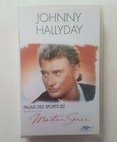 "█ JOHNNY HALLYDAY : VHS NEUVE - Collection MASTER SERIE ""PALAIS DES SPORTS 82"""