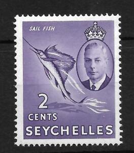 SEYCHELLES, KGV1, 1952 DEFINS, 2c SG 158, SAIL FISH,  MNH SINGLE