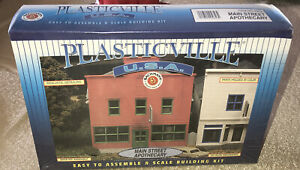Bachmann Plasticville U.S.A Main Street Apothecary Building  Kit New Sealed Box