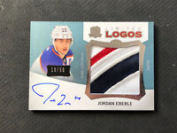 2012-13 UPPER DECK THE CUP JORDAN EBERLE LIMITED LOGOS AUTO PATCH #ed 19/50