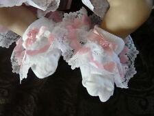 Dream 0-3 mois pour bébé fille cœurs roses rom frilly chaussettes 00 chaussures taille