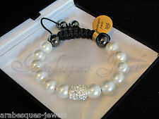QUALITY ARABESQUE JEWELS BRACELET/BANGLE GENUINE HEALING CRYSTAL/MOTHER OF PEARL