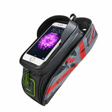 """RockBros Bike Frame Bag 6.0"""" Touch Screen Waterproof Front Tube Bicycle Bag Red"""