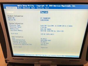 Panasonic Toughbook CF-19 MK5 Core i5 2.5Ghz 2nd Gen 8GB 128GB SSD WIN7 420HRS #