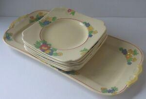 A Beautiful Vintage Royal Doulton Mindem Sandwich Set