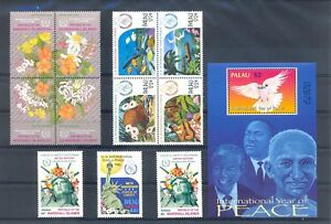 USA -PALAU - MARSHALL ISLANDS 11 ST. + 1 Bl. ** FAMOUS PEOPLE -INCL GHANDI ** VF
