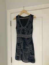 TFNC Sequin Navy Lined Mini Dress - Size Small