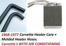 Corvette Core + Heater Hoses Molded with Air Condition 68-77 NEW KIT