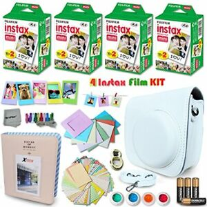 Xtech WHITE Accessories Kit for Fuji FujiFilm Instax Mini 8 Cameras includes: