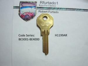 Key Blank for Vintage Desoto cars Inc. some Airflow 1935, 1937-38 (H1199AR)