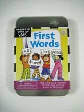 First Words Kit Magnetic Poetry Kids Ages 4 and Up Words Choking Hazard 3 Under