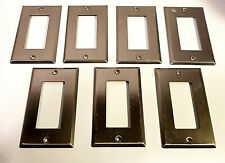 7-Pack GFCI Outlet Light Switch Toggle Wall Plate - Brushed Nickel