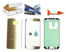 Gold Front Back Glass Lens Cover Replacement LCD Repair Kit Fit Galaxy S6 EDGE