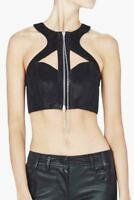 SASS & BIDE Leather Top Black Bustier Bra rrp $490 Size Small