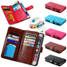 Fashion Luxury Wallet Photo Frame PU Leather Cover 9 Card Slots Purse Stand Case