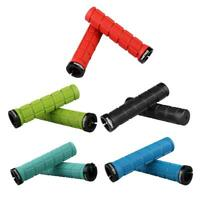 1 Pair Mountain Bike Handle Bar Non-slip Rubber Grip Cover Cycling Sleeves TN2F