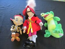 Lot 3 Jake and the Neverland Pirates Plush Hook Tick Tock Disney Store