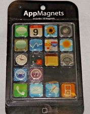 LOT of 2 Iphone And Ipod App Icon 3/4 inch Fridge Magnets 18 Each~36 Total NIP