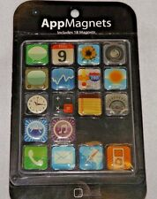 Lot of 2 Iphone And Ipod App Icon 3/4 inch Fridge Magnets set of 18 each NIP