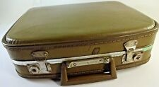 Vintage Antique Gateway Brown Suitcase Luggage Overnight Case Trunk Decor NO KEY