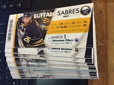 2015-16 BUFFALO SABRES NHL TICKET STUB PICK YOUR GAME JACK EICHEL CONNOR MCDAVID