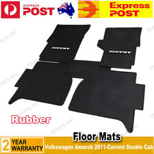 For VW Volkswagen Amarok 2011-on Dual Cab TailoredWeather Rubber Car Floor Mat