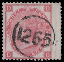 SG103 1867 3d. Rosa PIASTRA 8, DD, con Crisp 1265 TELEGRAFICO Annulla. E1843