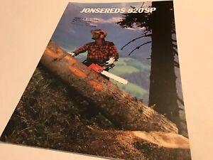 JONSERED Jonsereds 520SP Chain Saw Westmac Original 1981 Chainsaw Sales Brochure