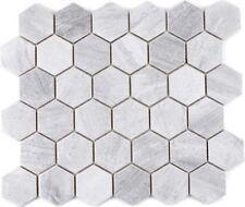 Mosaik Fliese Keramik grau Hexagon Travertin grau matt WB11G-0202 1 Matte