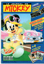 LE JOURNAL DE MICKEY n°1998 ¤ 1990 ¤ + CADEAU IMAGES STICKER PANINI ANIMAUX