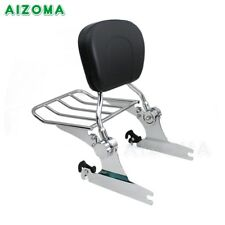 Adjustable Sissy Bar Backrest with Luggage Rack For Harley Softail Deluxe 05-UP