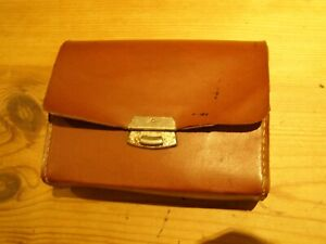 vintage brown case for shoe cleaning brushes