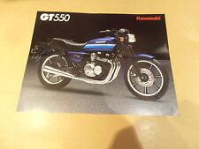 KAWASAKI GT550 MOTORCYCLE SALES BROCHURE