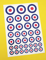 RC RAF small ROUNDEL stickers decals, RC cars Aircraft Helicopter slot cars etc