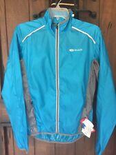 Sugoi new women's Helium lightweight running cycling biking jacket blue medium M