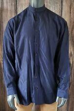 Men's Vintage Versace Classic V2 100% Silk Shirt Size XXL Blue